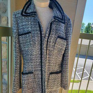 Tahari wool boucle coat